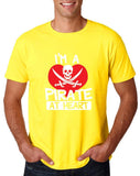 "I'm a Pirate At Heart Men T Shirt White & Red-T Shirts-Gildan-Daisy-S To Fit Chest 36-38"" (91-96cm)-Daataadirect"
