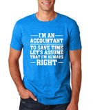 "I'm an accountant Mens T Shirts White-T Shirts-Gildan-Antique Sapphire-S To Fit Chest 36-38"" (91-96cm)-Daataadirect"