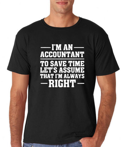 "I'm an accountant Mens T Shirts White-T Shirts-Gildan-Black-S To Fit Chest 36-38"" (91-96cm)-Daataadirect"