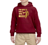 I'm here for the Boos Kids Hoodies Gold-Hoodies-Gildan-garnet-YS (5-6 Year)-Daataadirect