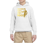 I'm here for the Boos Kids Hoodies Gold-Hoodies-Gildan-white-YS (5-6 Year)-Daataadirect