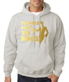 "I'm here for the Boos Mens Hoodies Gold-Hoodies-Gildan-Ash-S To Fit Chest 36-38"" (91-96cm)-Daataadirect"