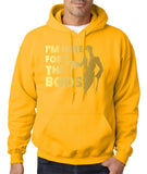 I'm here for the Boos Mens Hoodies Gold-Gildan-Daataadirect.co.uk