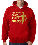 "I'm here for the Boos Mens Hoodies Gold-Hoodies-Gildan-red-S To Fit Chest 36-38"" (91-96cm)-Daataadirect"