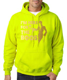 "I'm here for the Boos Mens Hoodies Gold-Hoodies-Gildan-safety green-S To Fit Chest 36-38"" (91-96cm)-Daataadirect"