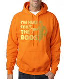 "I'm here for the Boos Mens Hoodies Gold-Hoodies-Gildan-safety orange-S To Fit Chest 36-38"" (91-96cm)-Daataadirect"