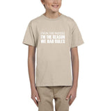 I'm in the middle I'm Kids T SHirts White-Gildan-Daataadirect.co.uk