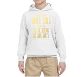 I'm Middle Child Reason for Rules Kids Hoodies Gold-Daataadirect