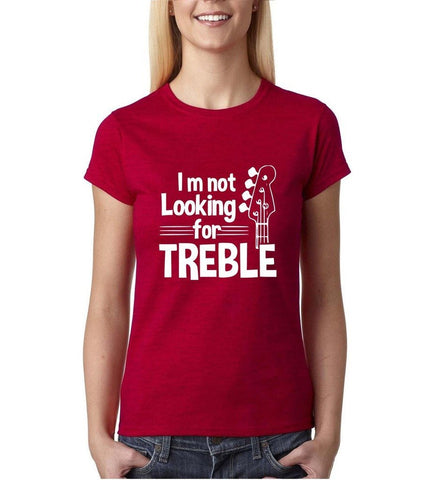 I'm not looking for treble White Womens T Shirt-Daataadirect