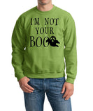 I'm not your Boo Mens SweatShirts Black-Gildan-Daataadirect.co.uk