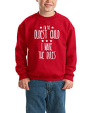 I'm Oldest Child Make Rules Kids SweatShirt White-SweatShirts-Gildan-Red-YXS (3-5 Year)-Daataadirect