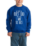 I'm Oldest Child Make Rules Kids SweatShirt White-SweatShirts-Gildan-Royal Blue-YXS (3-5 Year)-Daataadirect