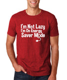 "I'm On Energy Saver Mode Men T Shirt White-T Shirts-Gildan-Antique Cherry-S To Fit Chest 36-38"" (91-96cm)-Daataadirect"