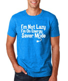 "I'm On Energy Saver Mode Men T Shirt White-T Shirts-Gildan-Antique Sapphire-S To Fit Chest 36-38"" (91-96cm)-Daataadirect"