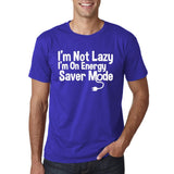 "I'm On Energy Saver Mode Men T Shirt White-T Shirts-Gildan-Cobalt-S To Fit Chest 36-38"" (91-96cm)-Daataadirect"