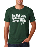 "I'm On Energy Saver Mode Men T Shirt White-T Shirts-Gildan-Forest Green-S To Fit Chest 36-38"" (91-96cm)-Daataadirect"