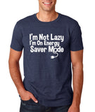 "I'm On Energy Saver Mode Men T Shirt White-T Shirts-Gildan-Heather Navy-S To Fit Chest 36-38"" (91-96cm)-Daataadirect"