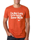 "I'm On Energy Saver Mode Men T Shirt White-T Shirts-Gildan-Heather Orange-S To Fit Chest 36-38"" (91-96cm)-Daataadirect"