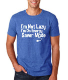 "I'm On Energy Saver Mode Men T Shirt White-T Shirts-Gildan-Heather Royal-S To Fit Chest 36-38"" (91-96cm)-Daataadirect"