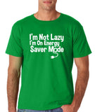 "I'm On Energy Saver Mode Men T Shirt White-T Shirts-Gildan-Irish Green-S To Fit Chest 36-38"" (91-96cm)-Daataadirect"