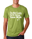 "I'm On Energy Saver Mode Men T Shirt White-T Shirts-Gildan-Kiwi-S To Fit Chest 36-38"" (91-96cm)-Daataadirect"