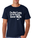 "I'm On Energy Saver Mode Men T Shirt White-T Shirts-Gildan-Navy-S To Fit Chest 36-38"" (91-96cm)-Daataadirect"