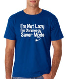 "I'm On Energy Saver Mode Men T Shirt White-T Shirts-Gildan-Royal-S To Fit Chest 36-38"" (91-96cm)-Daataadirect"