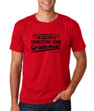 "I'm silently correcting your grammar Black mens T Shirt-T Shirts-Gildan-Cherry Red-S To Fit Chest 36-38"" (91-96cm)-Daataadirect"