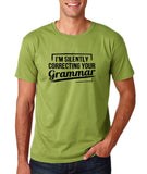 "I'm silently correcting your grammar Black mens T Shirt-T Shirts-Gildan-Kiwi-S To Fit Chest 36-38"" (91-96cm)-Daataadirect"