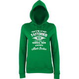 "I'm Tattooed Mom Much Cooler Women Hoodies White-Hoodies-AWD-Kelly Green-XS UK 8 Euro 32 Bust 30""-Daataadirect"