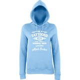 "I'm Tattooed Mom Much Cooler Women Hoodies White-Hoodies-AWD-Sky Blue-XS UK 8 Euro 32 Bust 30""-Daataadirect"