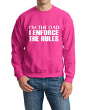 "I'm The Dad I Enforce The Rules Men Sweat Shirts White-SweatShirts-Gildan-Heliconia-S To Fit Chest 36-38"" (91-96cm)-Daataadirect"