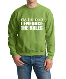 "I'm The Dad I Enforce The Rules Men Sweat Shirts White-SweatShirts-Gildan-Kiwi-S To Fit Chest 36-38"" (91-96cm)-Daataadirect"