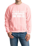 "I'm The Dad I Enforce The Rules Men Sweat Shirts White-SweatShirts-Gildan-Light Pink-S To Fit Chest 36-38"" (91-96cm)-Daataadirect"