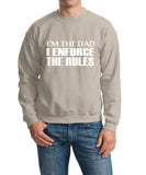"I'm The Dad I Enforce The Rules Men Sweat Shirts White-SweatShirts-Gildan-Sand-S To Fit Chest 36-38"" (91-96cm)-Daataadirect"