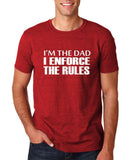 "I'm the dad I enforce the rules Mens T Shirts White-T Shirts-Gildan-Antique Cherry-S To Fit Chest 36-38"" (91-96cm)-Daataadirect"