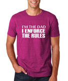 "I'm the dad I enforce the rules Mens T Shirts White-T Shirts-Gildan-Antique Helconia-S To Fit Chest 36-38"" (91-96cm)-Daataadirect"