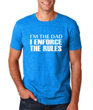 "I'm the dad I enforce the rules Mens T Shirts White-T Shirts-Gildan-Antique Sapphire-S To Fit Chest 36-38"" (91-96cm)-Daataadirect"