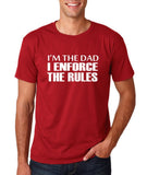 "I'm the dad I enforce the rules Mens T Shirts White-T Shirts-Gildan-Cardinal-S To Fit Chest 36-38"" (91-96cm)-Daataadirect"