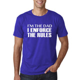"I'm the dad I enforce the rules Mens T Shirts White-T Shirts-Gildan-Cobalt-S To Fit Chest 36-38"" (91-96cm)-Daataadirect"