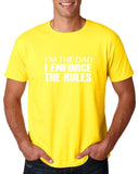 "I'm the dad I enforce the rules Mens T Shirts White-T Shirts-Gildan-Daisy-S To Fit Chest 36-38"" (91-96cm)-Daataadirect"