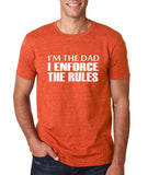 "I'm the dad I enforce the rules Mens T Shirts White-T Shirts-Gildan-Heather Orange-S To Fit Chest 36-38"" (91-96cm)-Daataadirect"