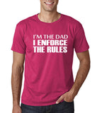 "I'm the dad I enforce the rules Mens T Shirts White-T Shirts-Gildan-Heliconia-S To Fit Chest 36-38"" (91-96cm)-Daataadirect"