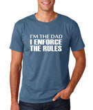 "I'm the dad I enforce the rules Mens T Shirts White-T Shirts-Gildan-Indigo Blue-S To Fit Chest 36-38"" (91-96cm)-Daataadirect"