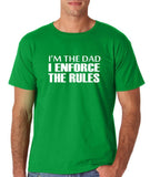 "I'm the dad I enforce the rules Mens T Shirts White-T Shirts-Gildan-Irish Green-S To Fit Chest 36-38"" (91-96cm)-Daataadirect"