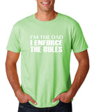 "I'm the dad I enforce the rules Mens T Shirts White-T Shirts-Gildan-Mint Green-S To Fit Chest 36-38"" (91-96cm)-Daataadirect"
