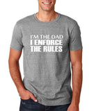 "I'm the dad I enforce the rules Mens T Shirts White-T Shirts-Gildan-Sport Grey-S To Fit Chest 36-38"" (91-96cm)-Daataadirect"