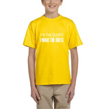 I'm the oldest I make the rules Kids T SHirts White-T Shirts-Gildan-Daisy-YXS (3-5 Year)-Daataadirect