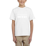 I'm the oldest I make the rules Kids T SHirts White-T Shirts-Gildan-White-YXS (3-5 Year)-Daataadirect