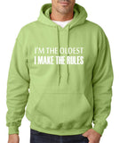 I'm The Oldest I Make The Rules Men Hoodies White-Gildan-Daataadirect.co.uk